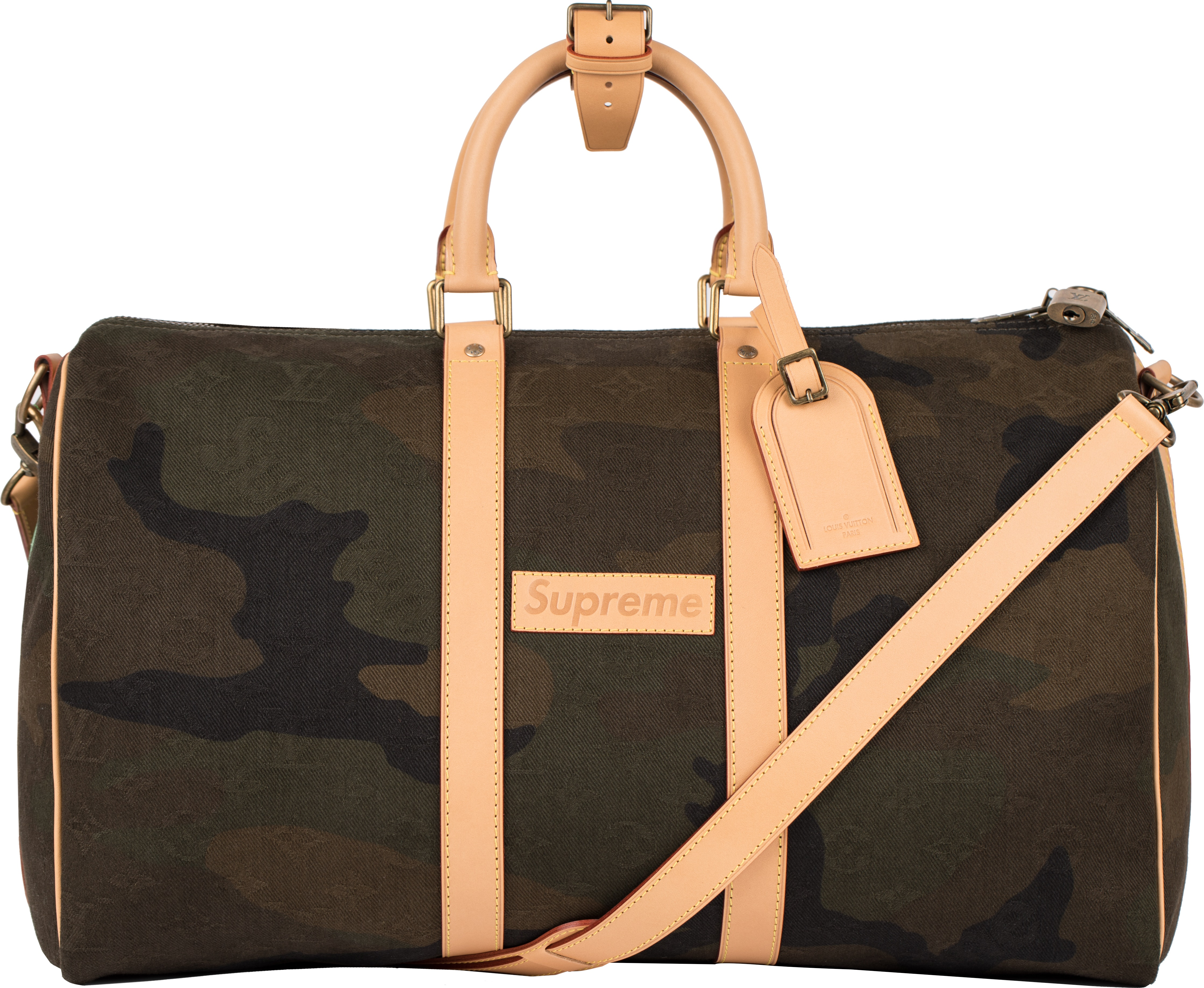 Louis Vuitton x Supreme Keepall Bandouliere Monogram Camo 45