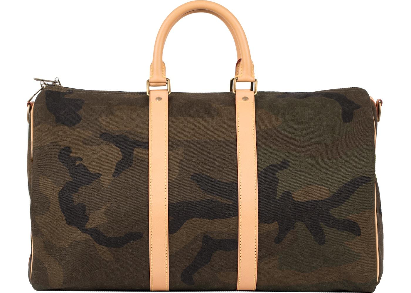 2b6edaa4e42 Louis Vuitton x Supreme Keepall Bandouliere 45 Camo