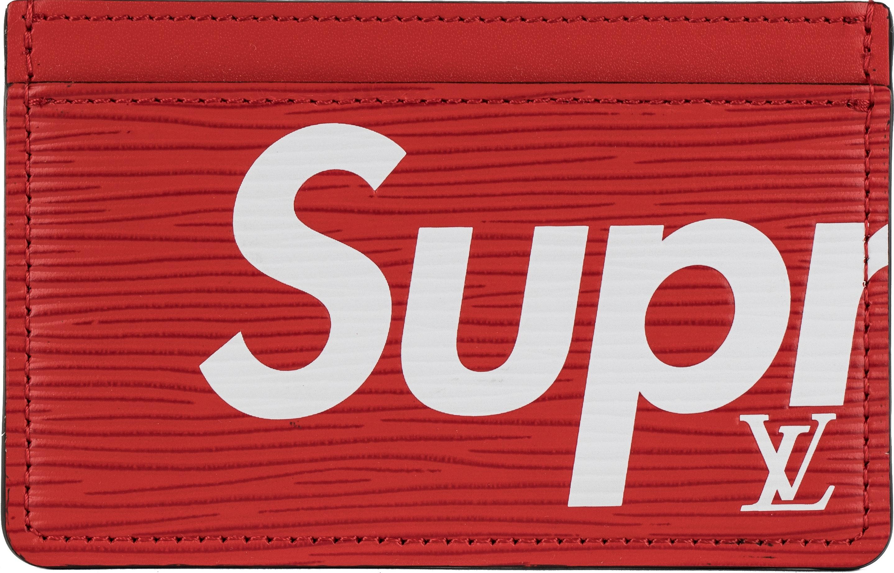 Louis Vuitton x Supreme Porte Carte Simple Epi Red