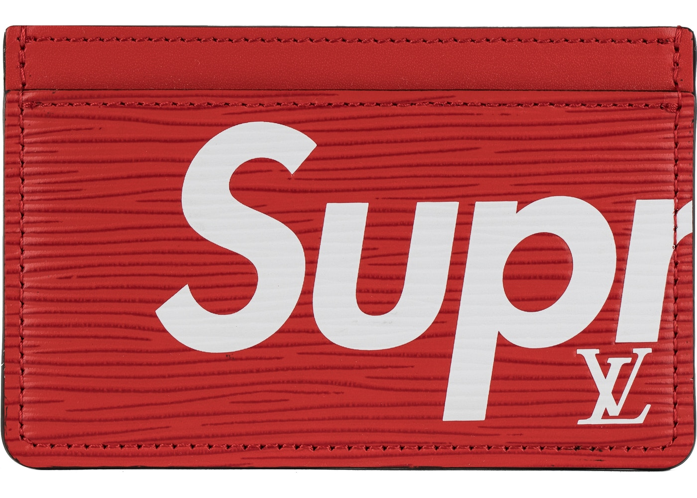 nuovo arrivo 9391a 07b80 Louis Vuitton x Supreme Porte Carte Simple Epi Red