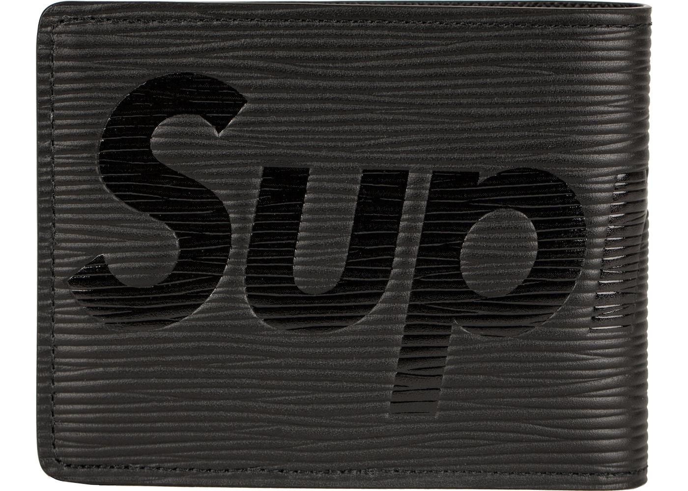 009a6981f19 Louis Vuitton x Supreme Slender Wallet Epi Black