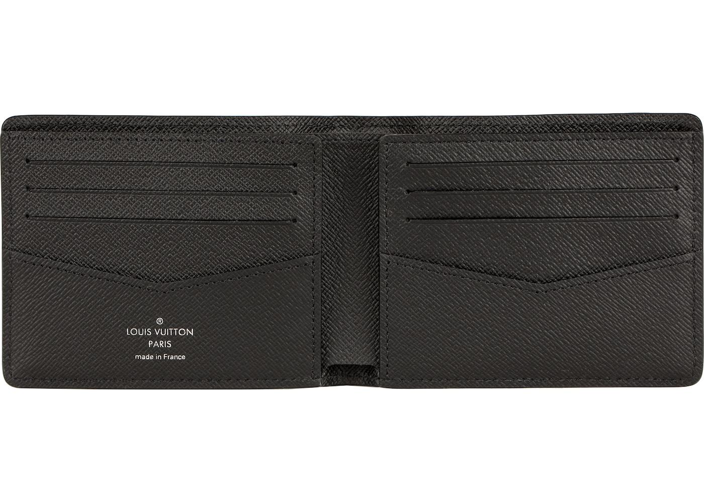 6d626e8d88a7 Louis Vuitton x Supreme Slender Wallet Epi Black