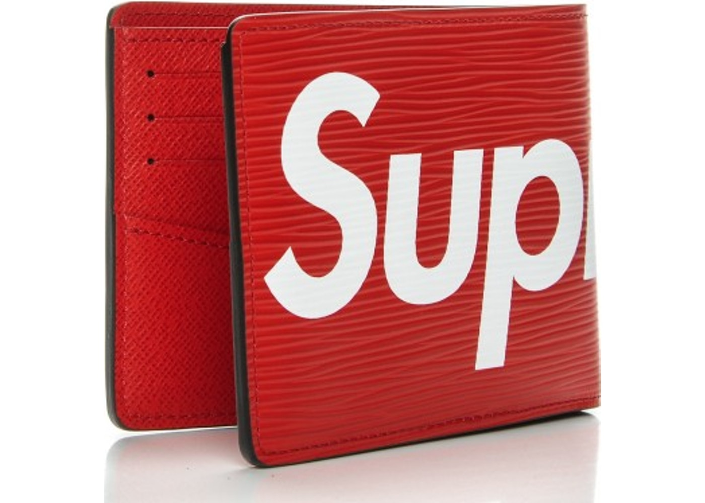 8e700e1fd7d7 Louis Vuitton x Supreme Slender Wallet Epi Red