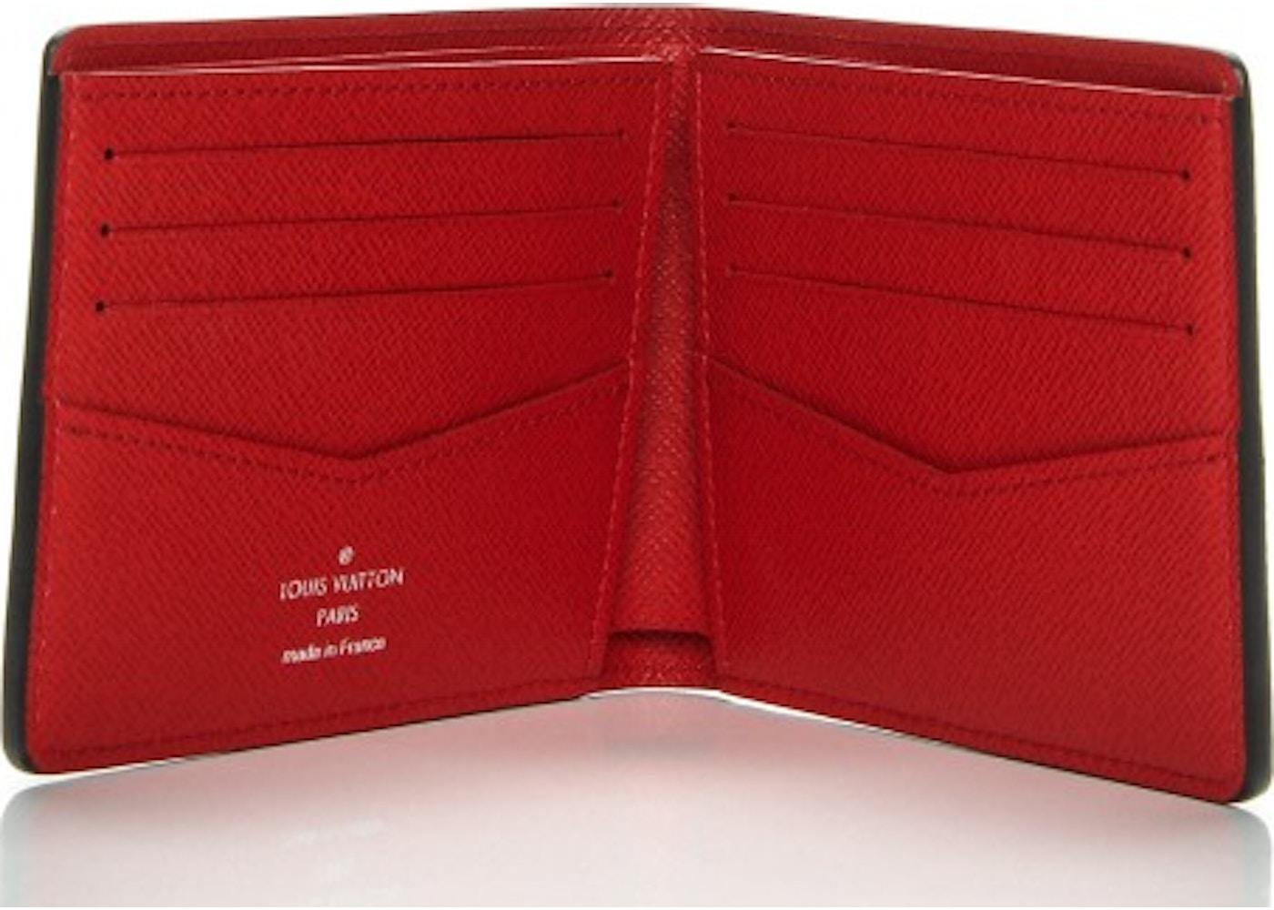 05856a3ec23f Louis Vuitton x Supreme Slender Wallet Epi Red