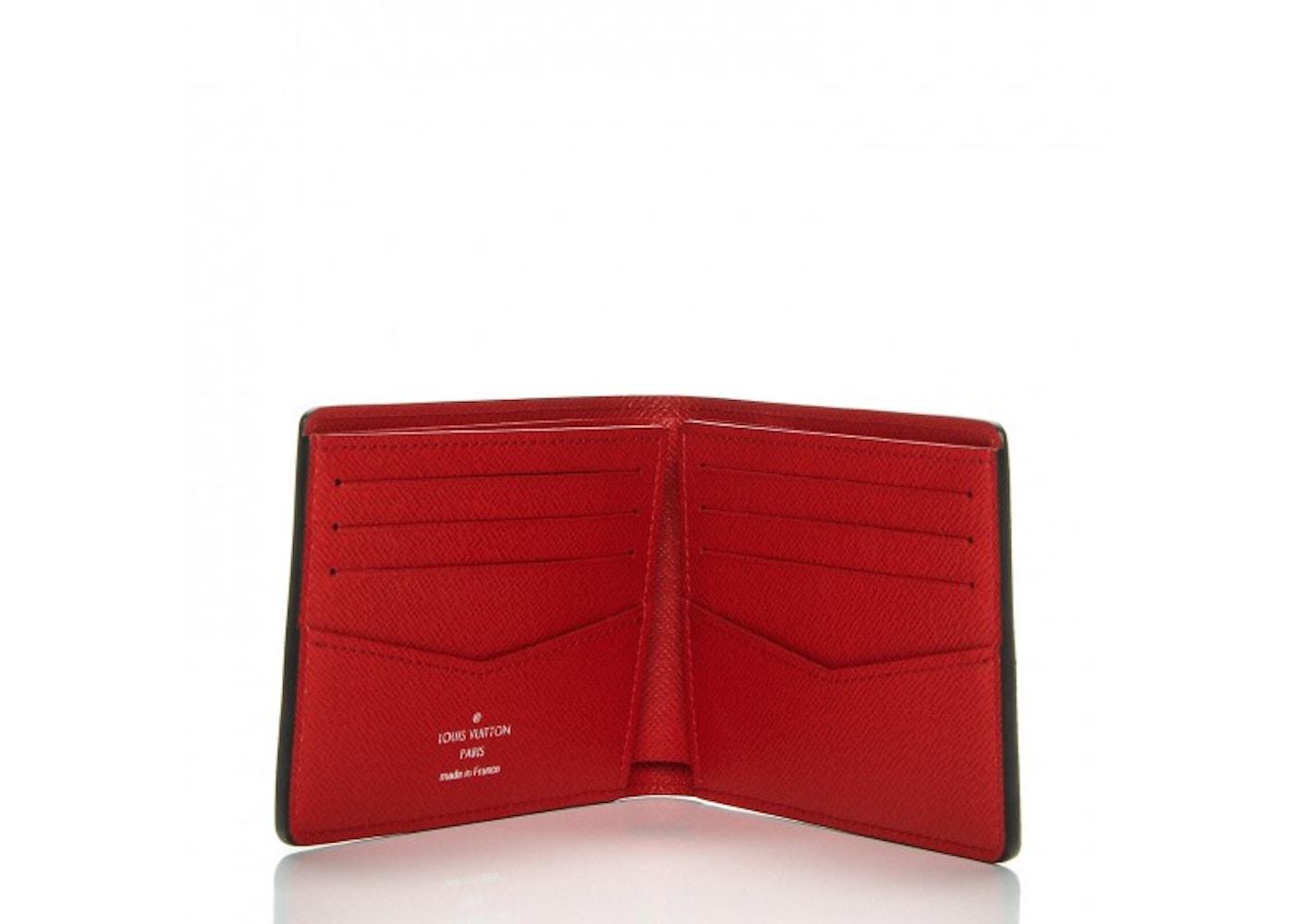 b9c2536cc4 Louis Vuitton x Supreme Slender Wallet Epi Red