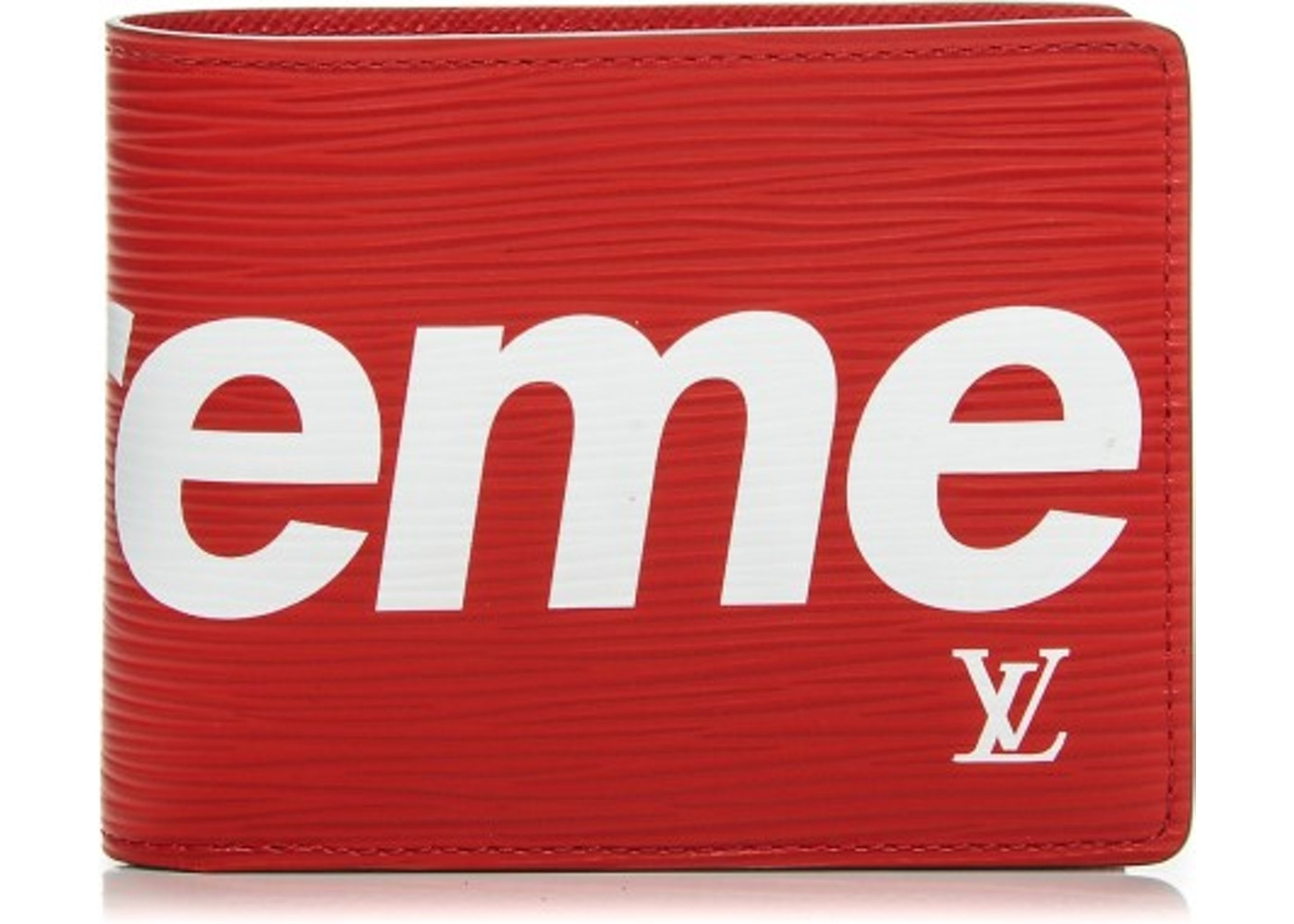 Louis Vuitton X Supreme Slender Wallet Epi Red