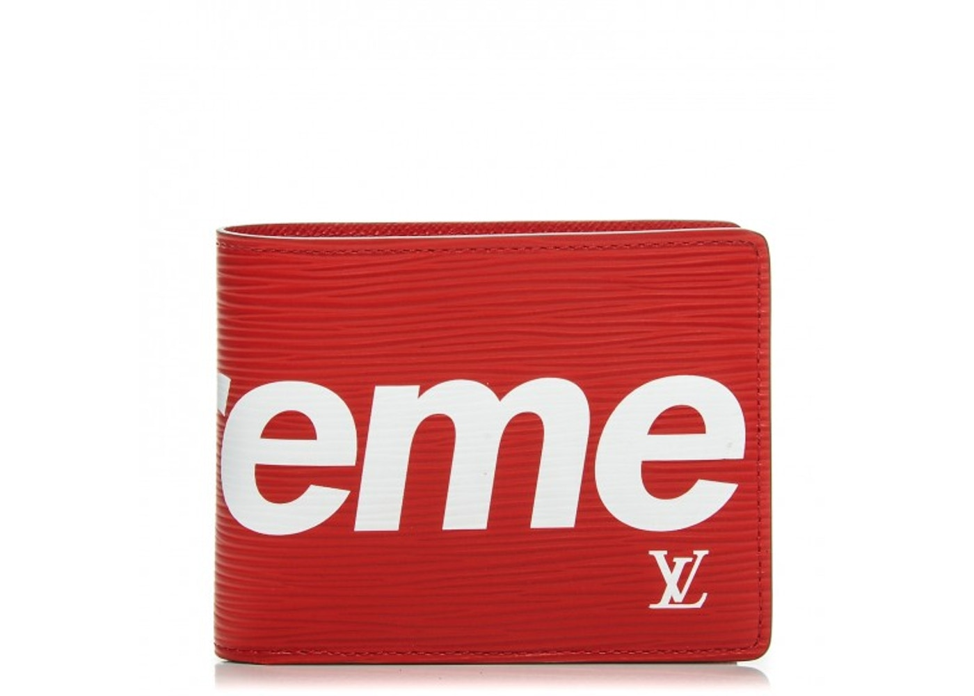 4ae6ae36db6 Louis Vuitton x Supreme Slender Wallet Epi Red
