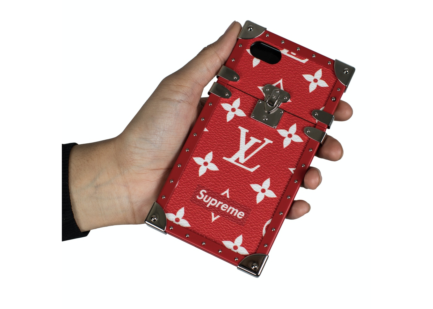 0ada55da057 Louis Vuitton x Supreme iPhone 7 Eye Trunk Red