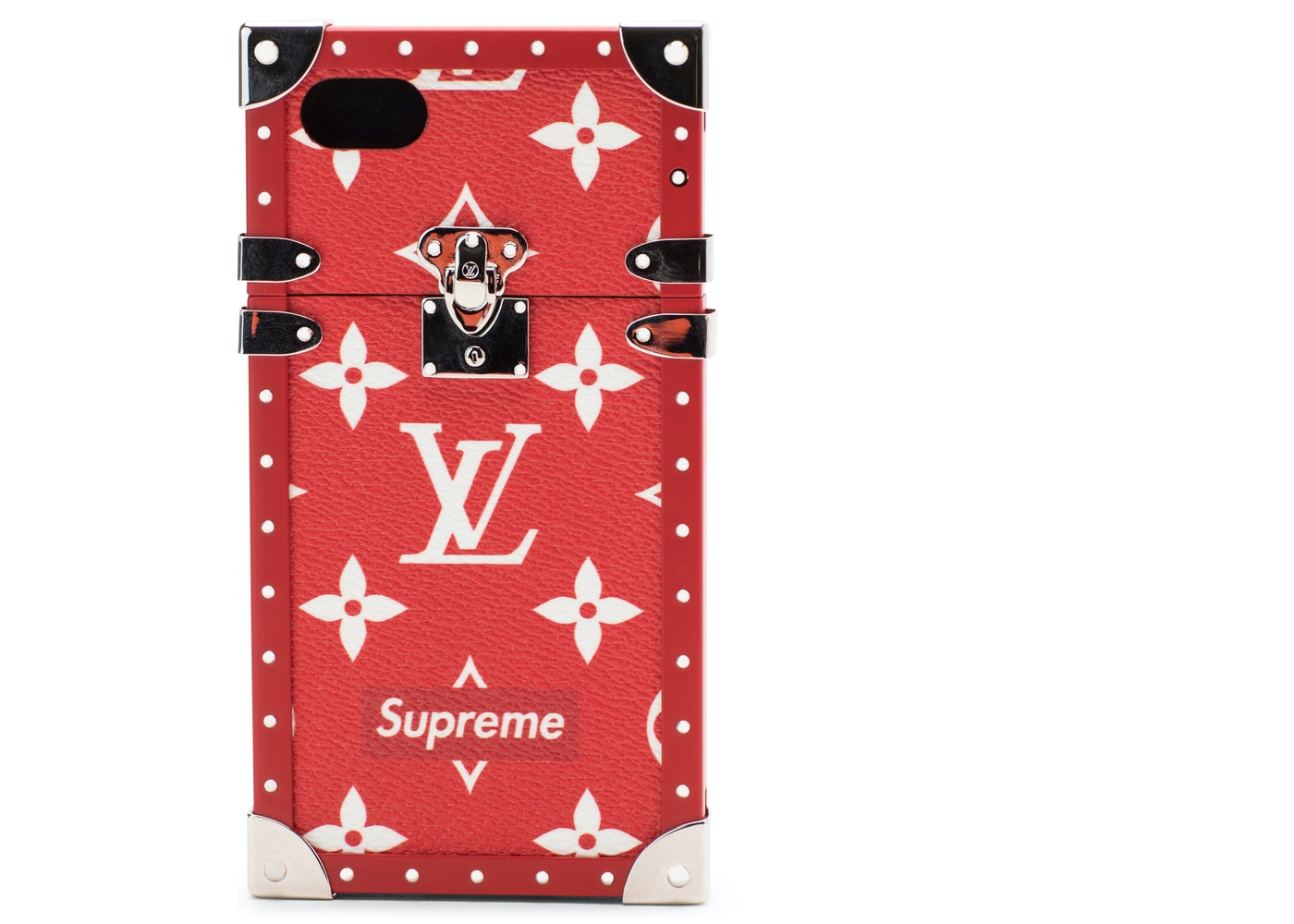 on sale c8392 4aba4 Louis Vuitton x Supreme iPhone 7 Eye Trunk Red