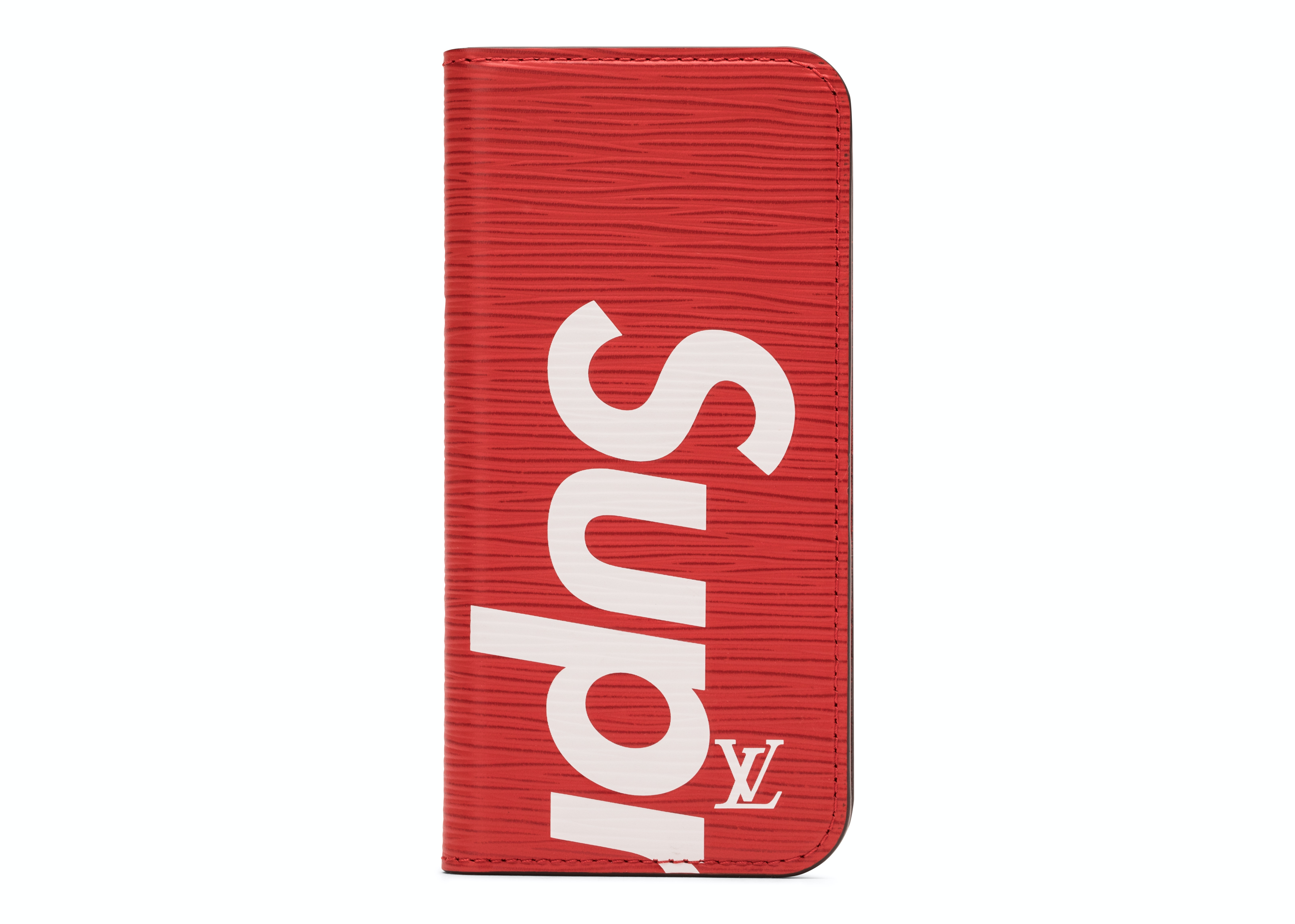 Louis Vuitton x Supreme iPhone 7 Folio Epi Red
