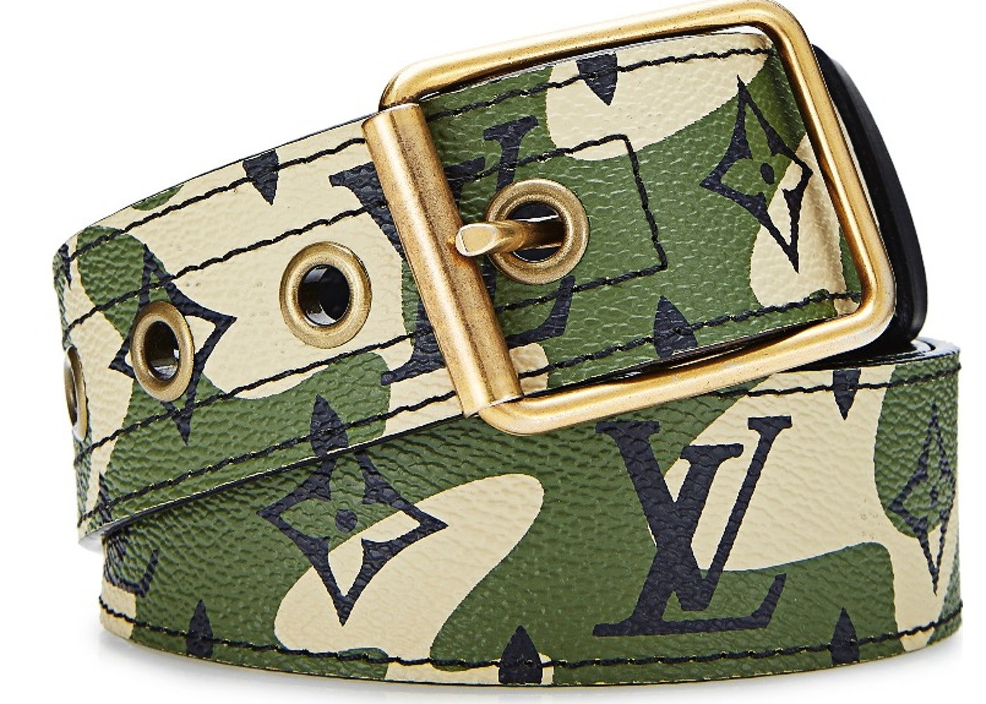 8f05f5d768aa Louis Vuitton x Takashi Murakami Belt Monogramouflage Green. Monogramouflage  Green