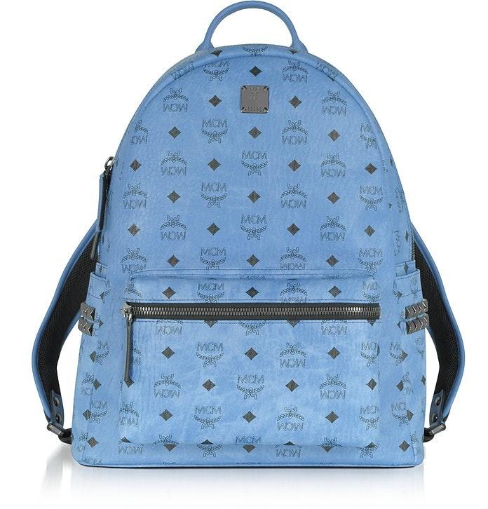 MCM Backpack Stark Side Stud Medium Denim