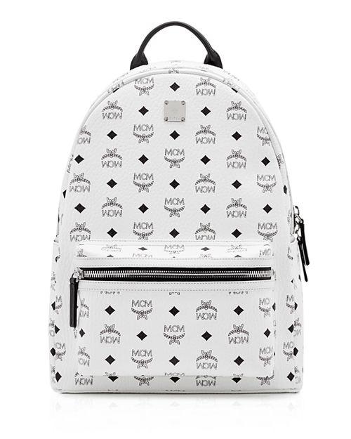 MCM Stark Backpack Visetos Medium White
