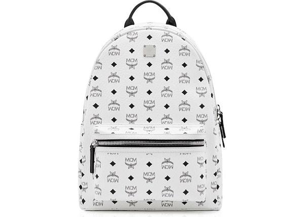 8ba8d2f267804 MCM Stark Backpack Visetos Medium White
