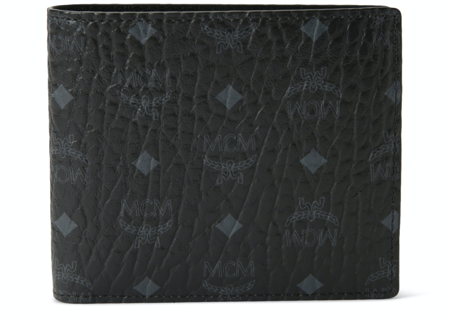 MCM Bifold Wallet Visetos Small Black Original