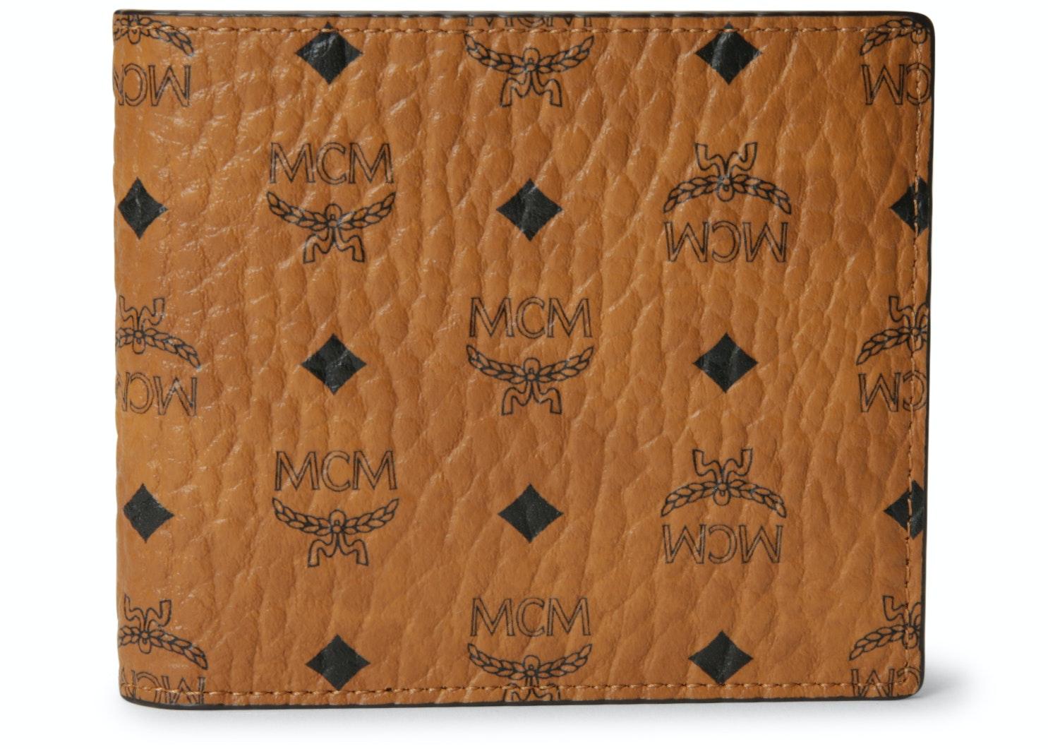 MCM Bifold Wallet Visetos Small Cognac