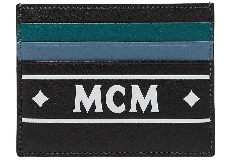 MCM Card Case Coburg Logo Strip Mini Black