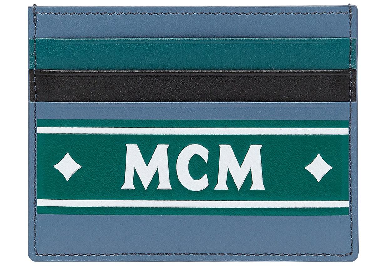 MCM Card Case Coburg Logo Strip Mini Luft Blue