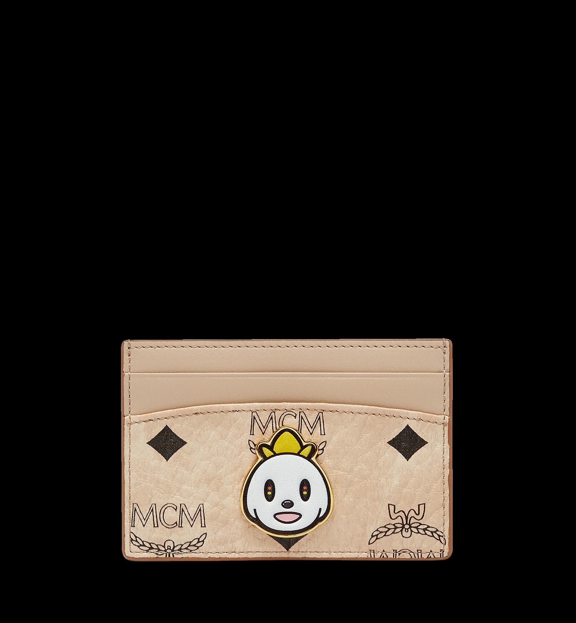 MCM Card Case Visetos Eddie Kang Mini Beige