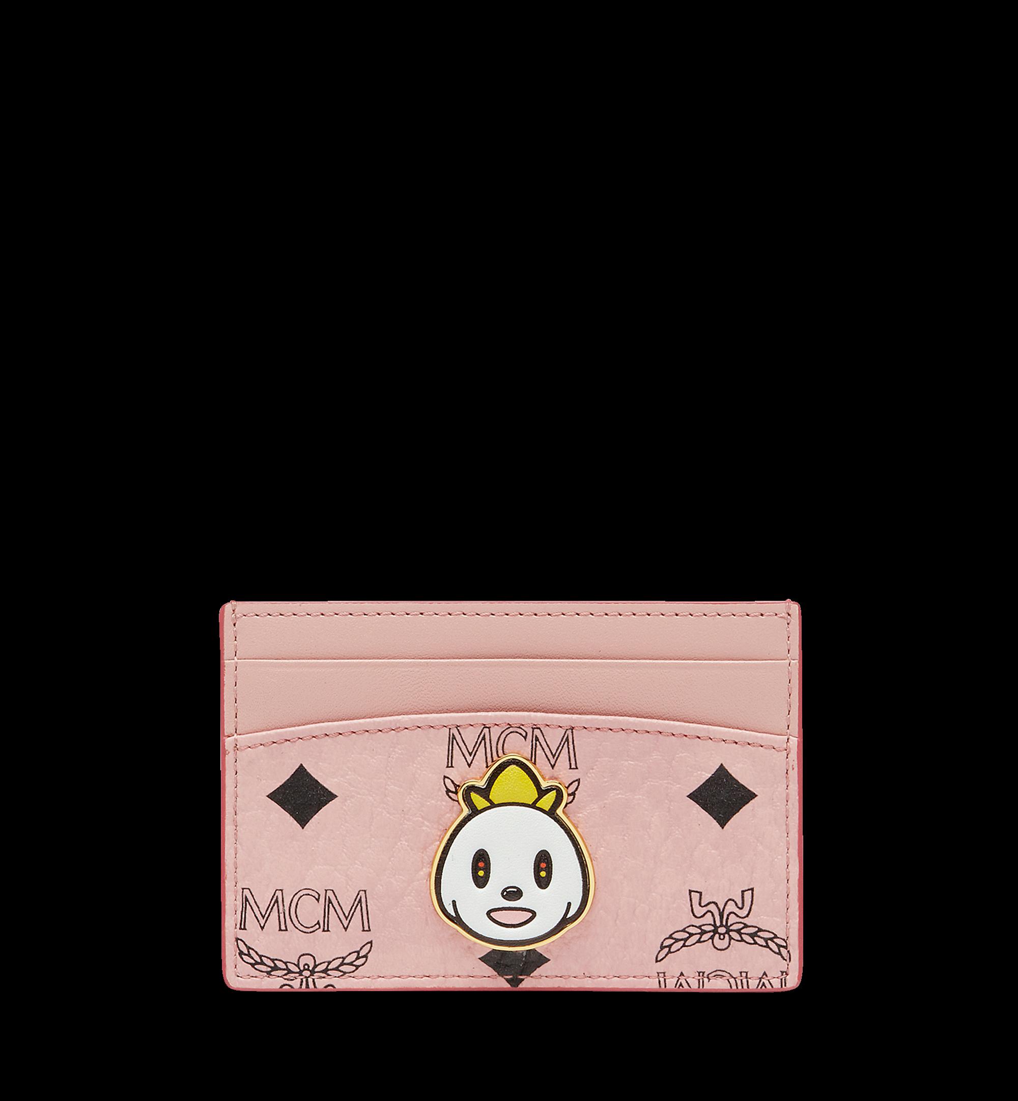 MCM Card Case Visetos Eddie Kang Mini Soft Pink