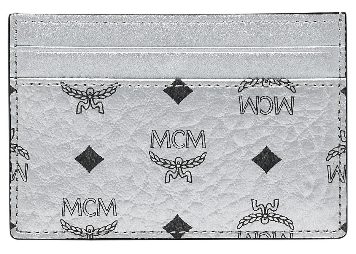 MCM Card Case Visetos Mini Berlin Silver