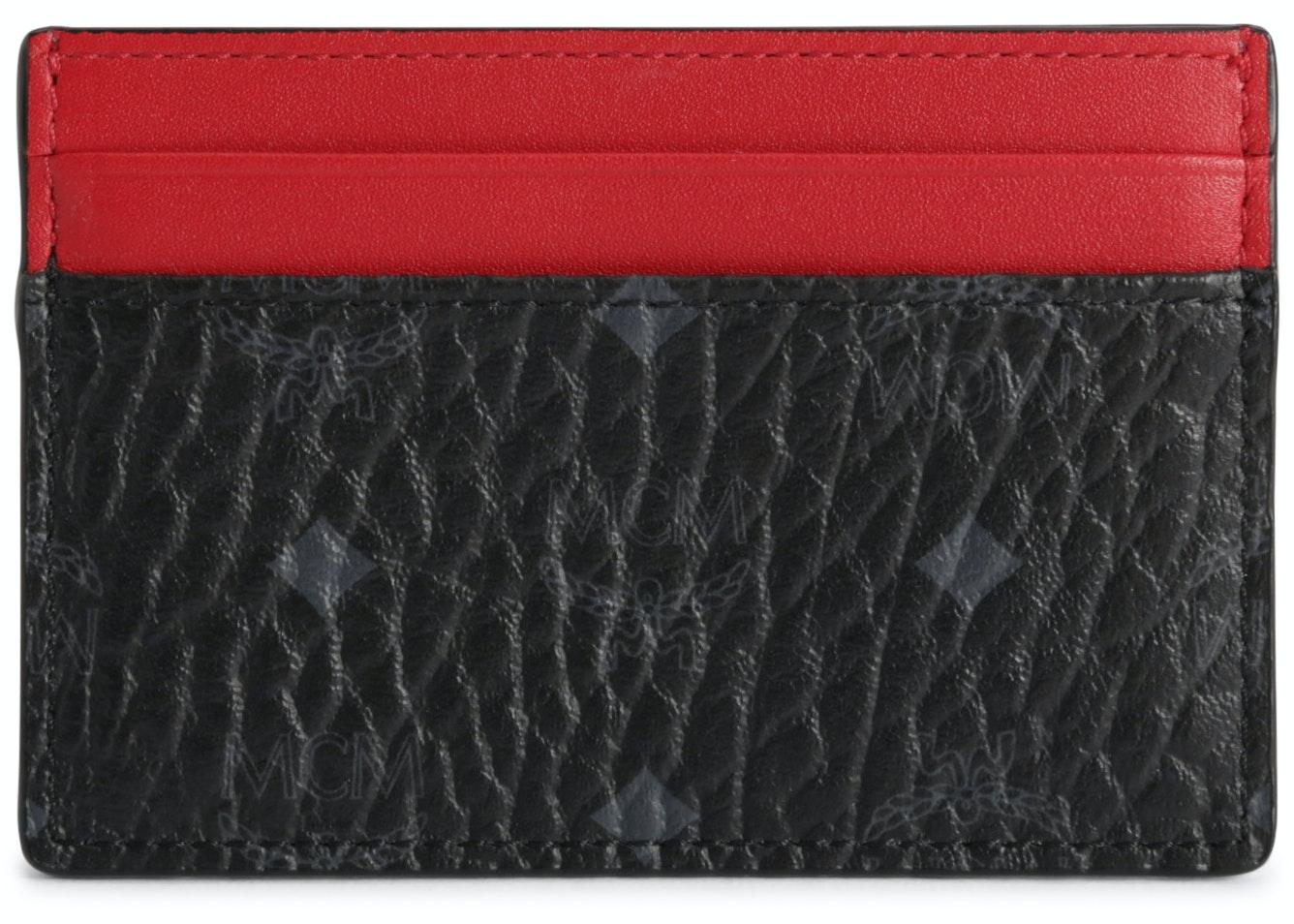 MCM Card Case Visetos Mini Black/Red