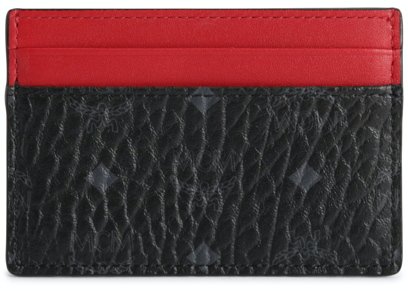 MCM Card Case Visetos Mini Black/Red