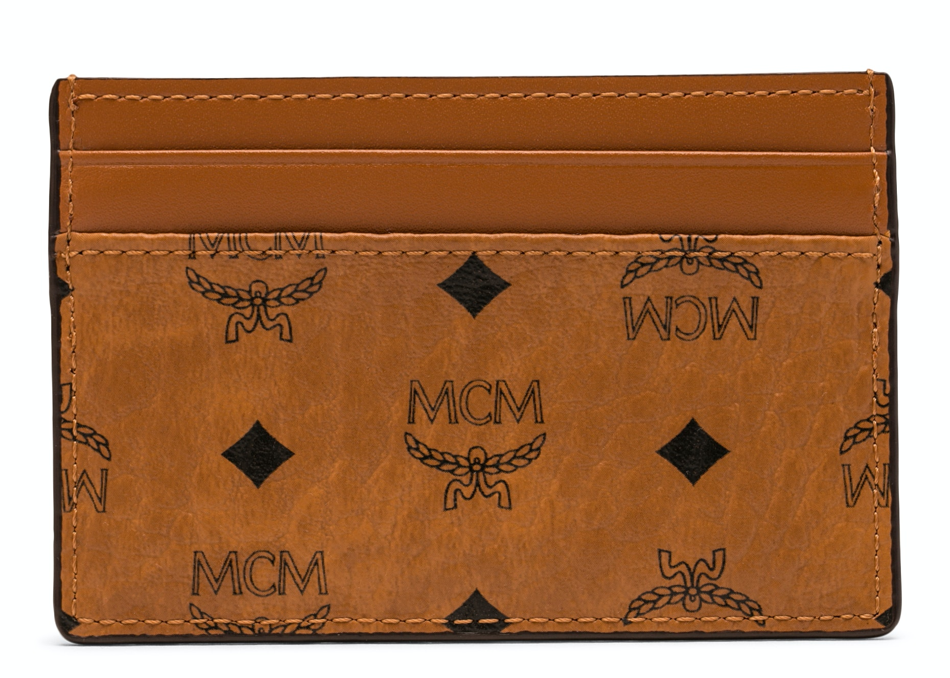 MCM Card Case Visetos Mini Cognac
