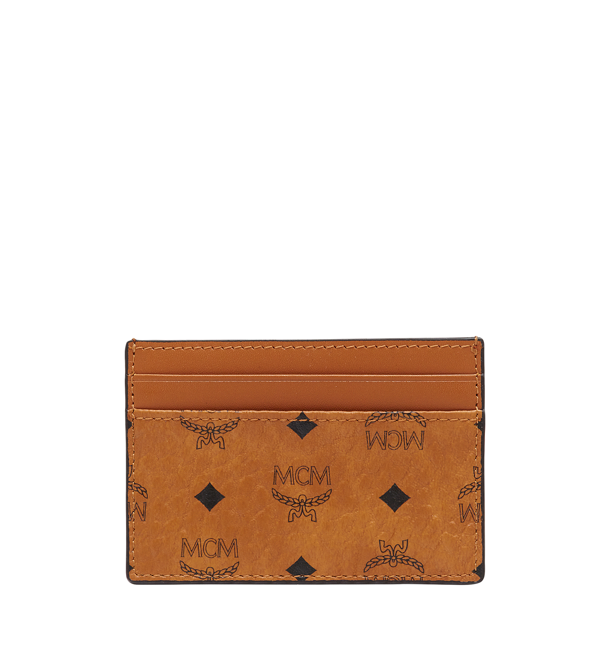 MCM Card Case Visetos Mini Cognac