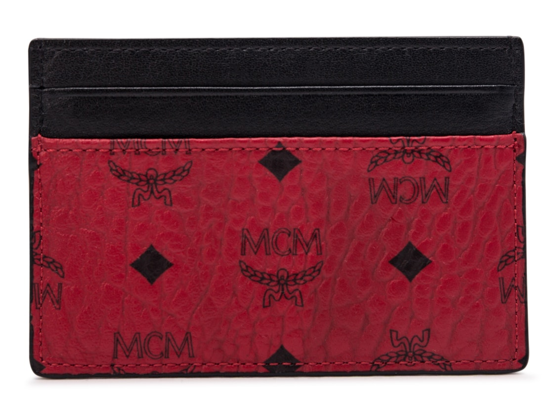 MCM Card Case Visetos Mini Red/Black