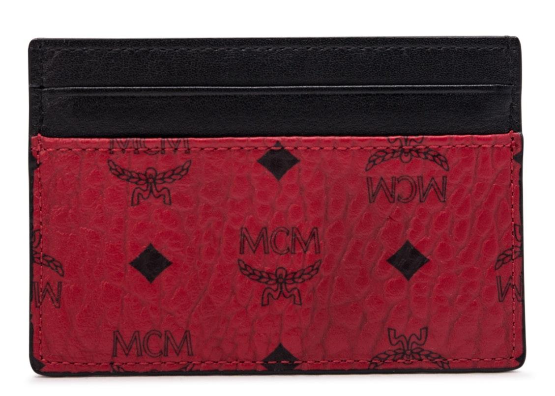 MCM Card Case Visetos Mini Red/Black