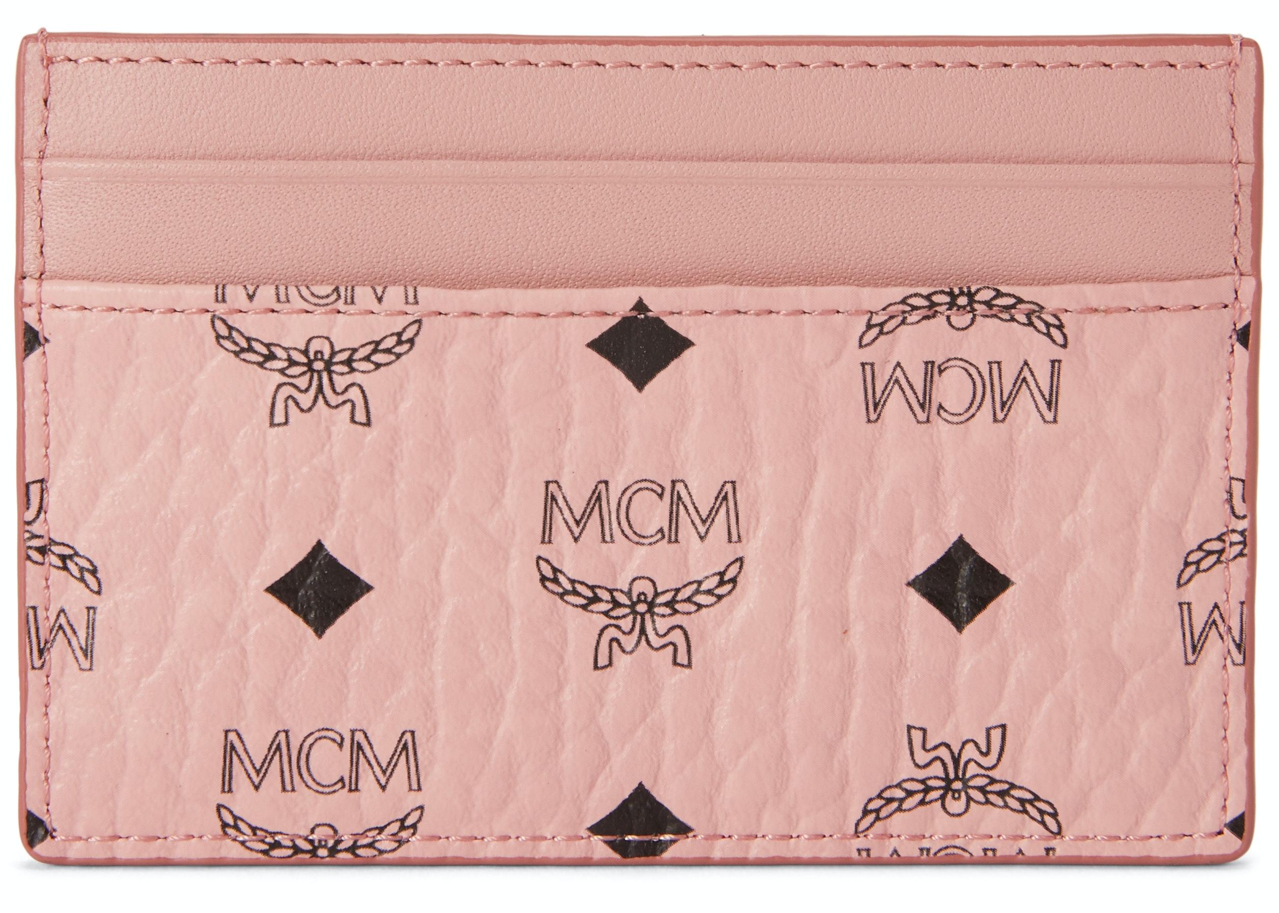 MCM Card Case Visetos Mini Soft Pink