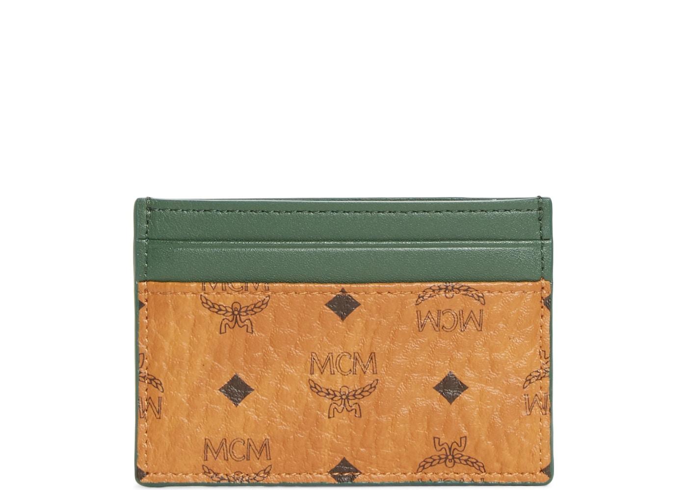 best cheap 1d9bf 647c5 MCM Card Case Visetos Nordstrom Exclusive Mini Cognac/Safari Green