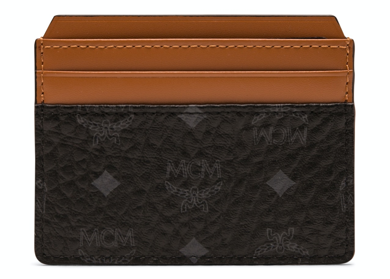 MCM Claus Card Case Visetos Cognac