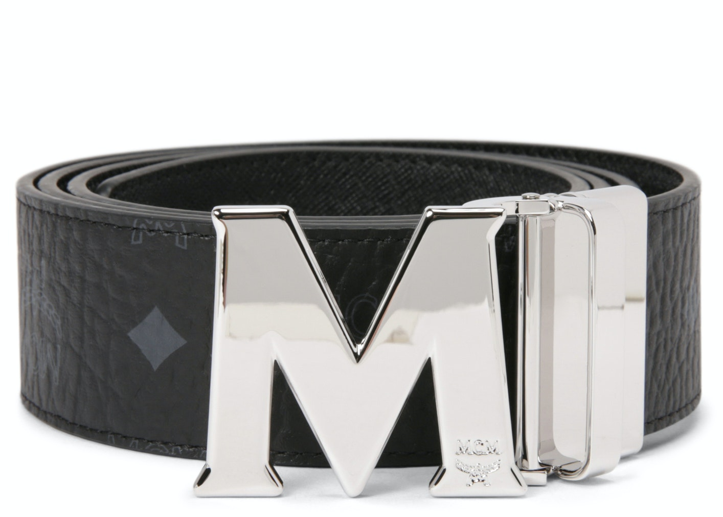 MCM Claus M Reversible Belt Visetos 1.75W 51In/130Cm Black