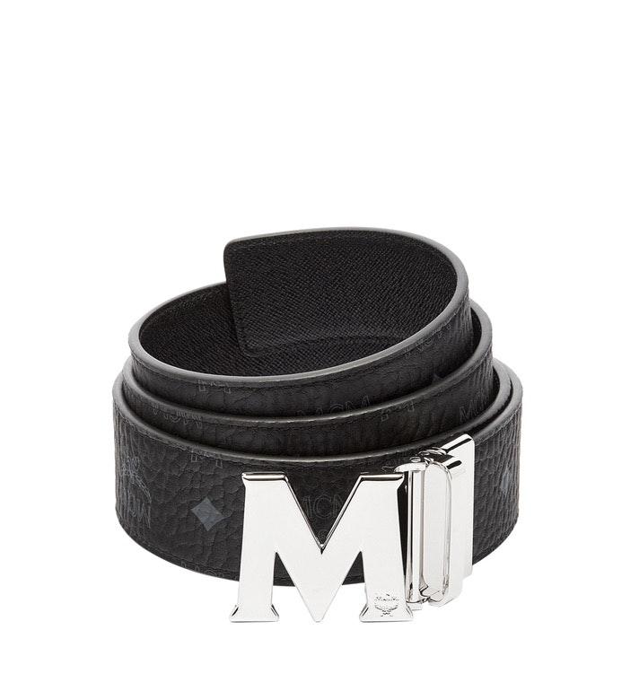 MCM Claus M Reversible Belt Visetos 1.75W 51In/130Cm Black