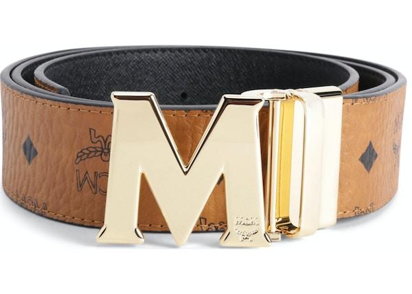 80c11123e770 MCM Claus M Reversible Belt Visetos 1.75W 51In 130Cm Cognac
