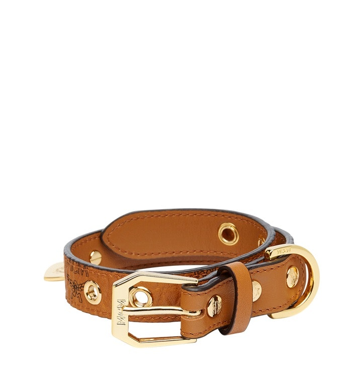 MCM Dog Collar Visetos Small Cognac