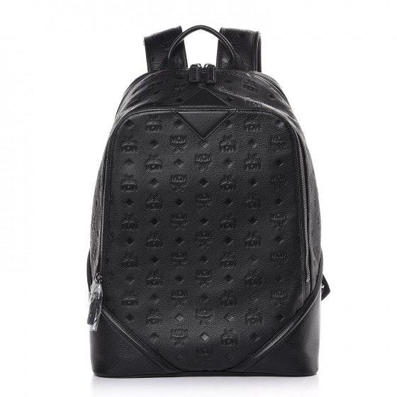 MCM Backpack Monogram Ottomar Leather Black