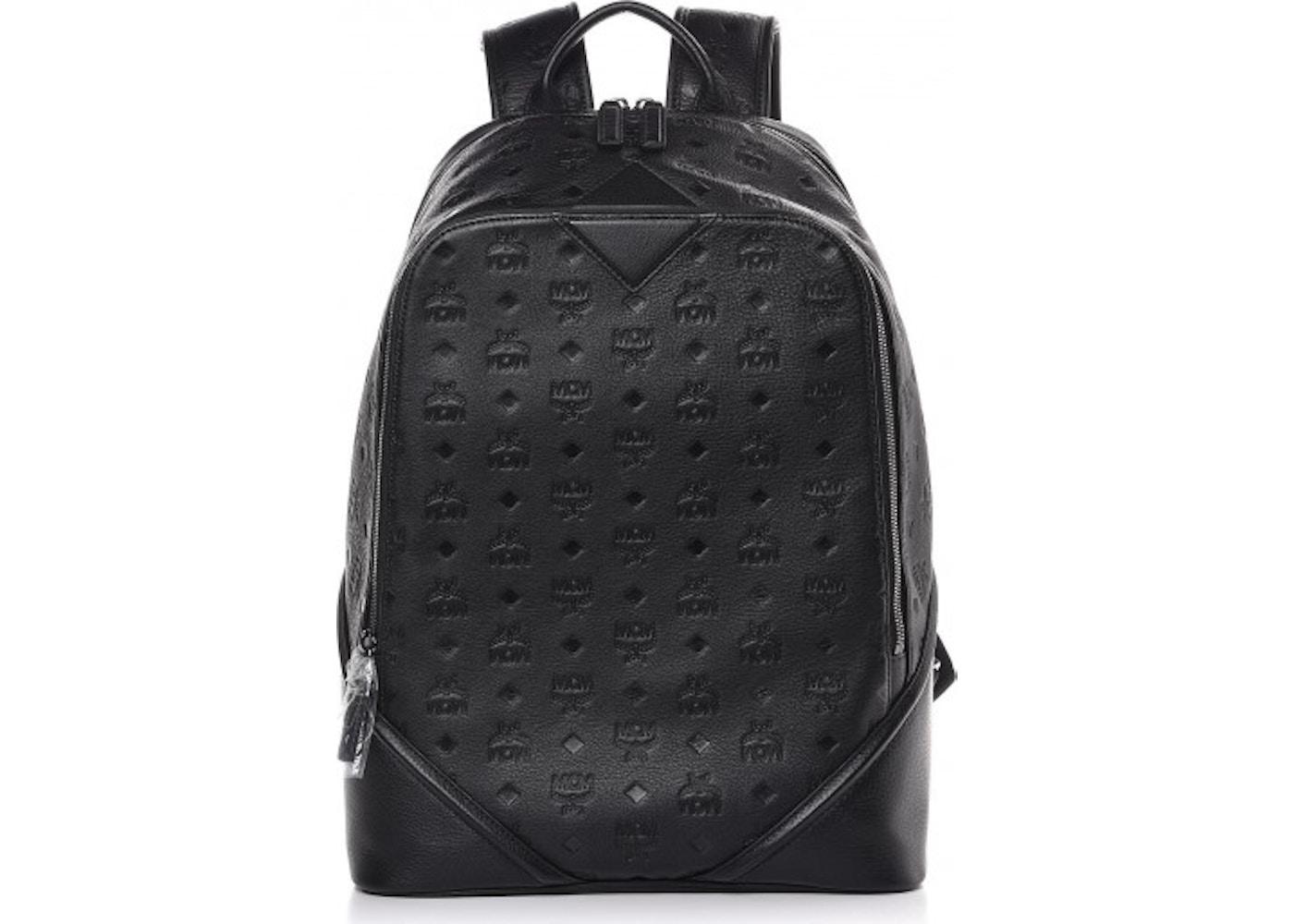 0b470c6b5 MCM Backpack Monogram Ottomar Leather Black