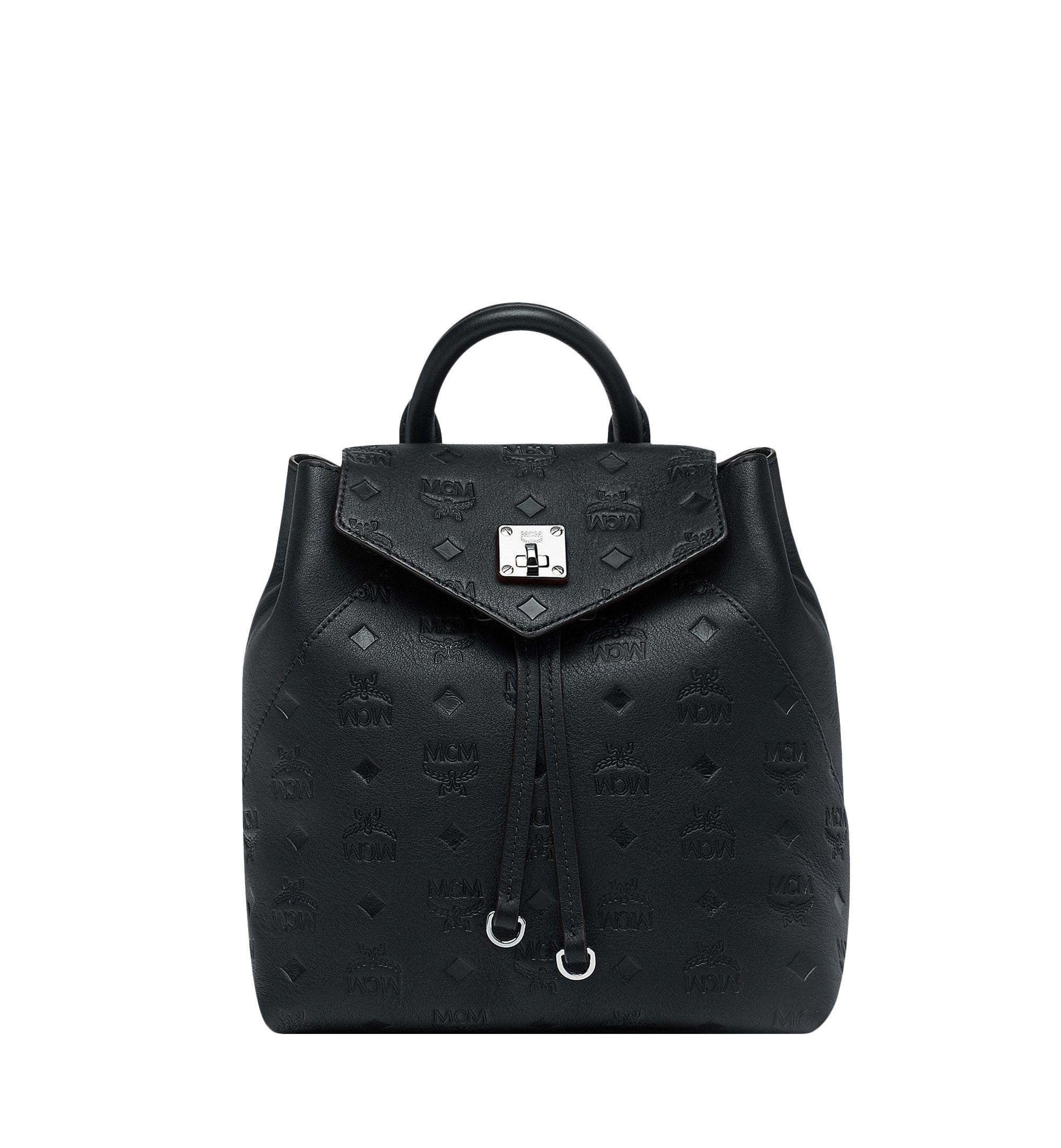 MCM Essential Backpack Monogram Black