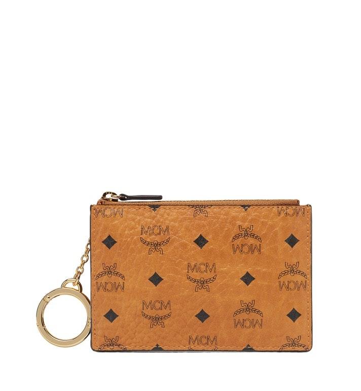 MCM Key Pouch Visetos Mini Cognac