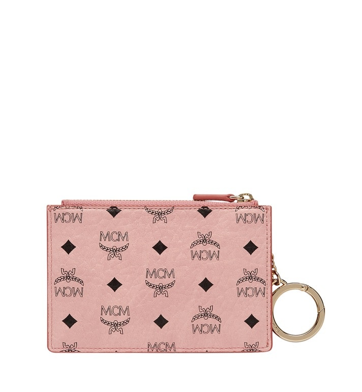 MCM Key Pouch Visetos Mini Soft Pink