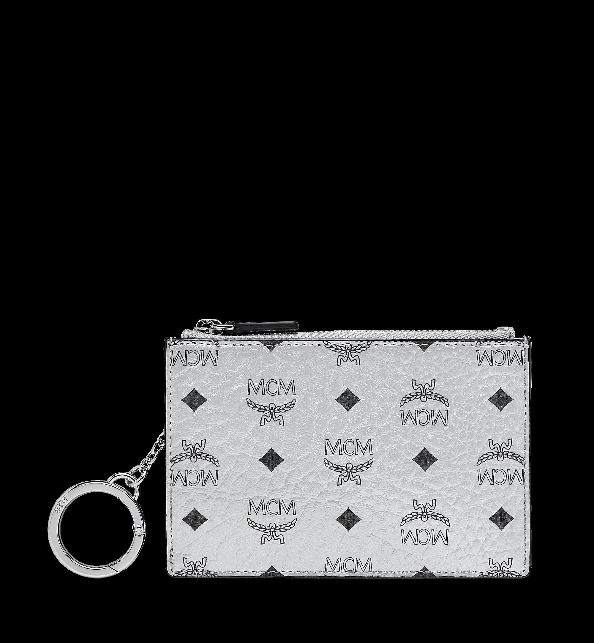 MCM Key Pouch Visetos Original Berlin Silver