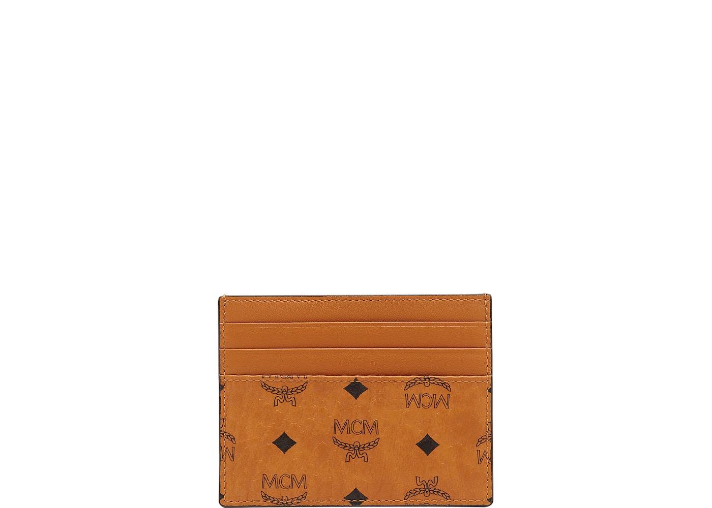 reputable site fbdd6 a9730 MCM Money Clip Card Case Visetos Mini Cognac | StockX