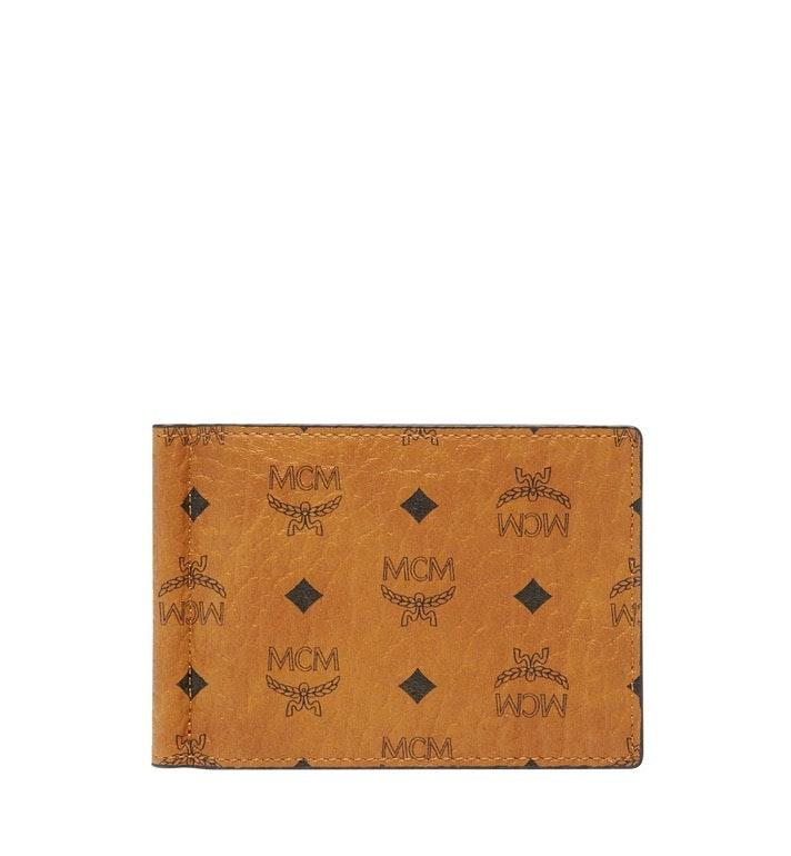 MCM Money Clip Visetos One Size Cognac