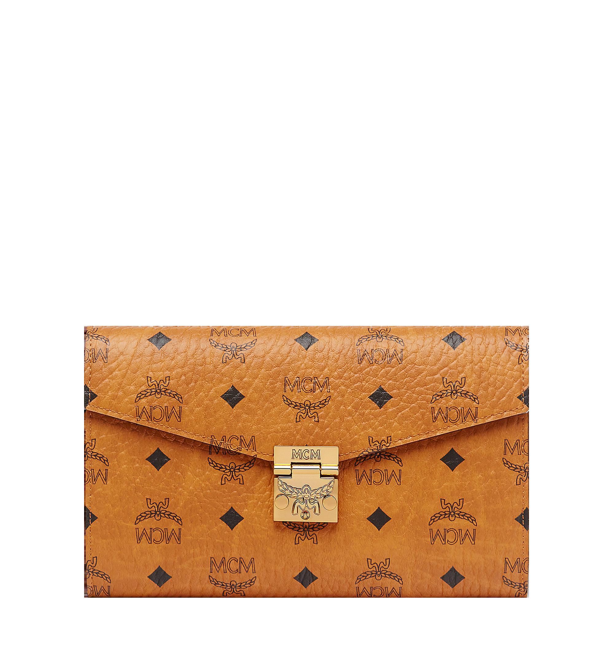 MCM Patricia Continental Crossbody Wallet Visetos Large