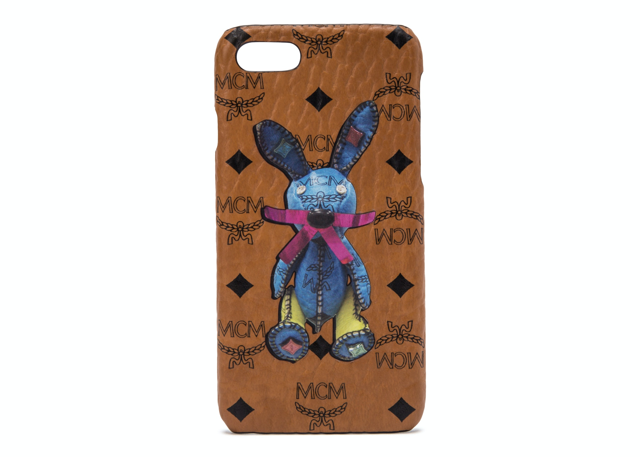 MCM Rabbit iPhone Case Visetos 6S/7/8 Cognac