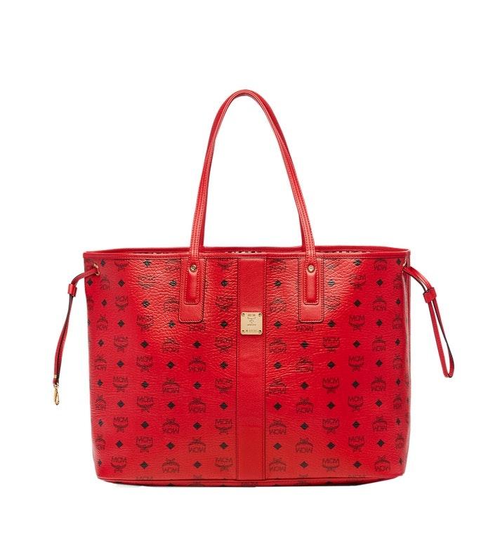 MCM Reversible Liz Shopper Visetos Large Ruby Red