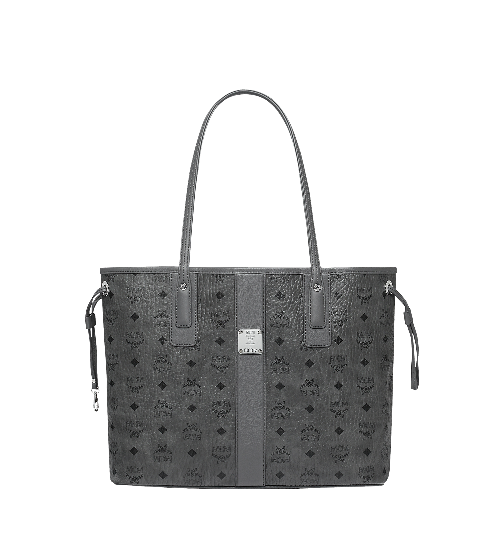 MCM Reversible Liz Shopper Visetos Medium Phantom Grey